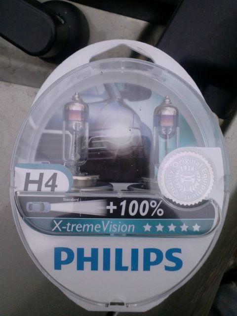 Philips X-treem vision +100% H4 55/60W