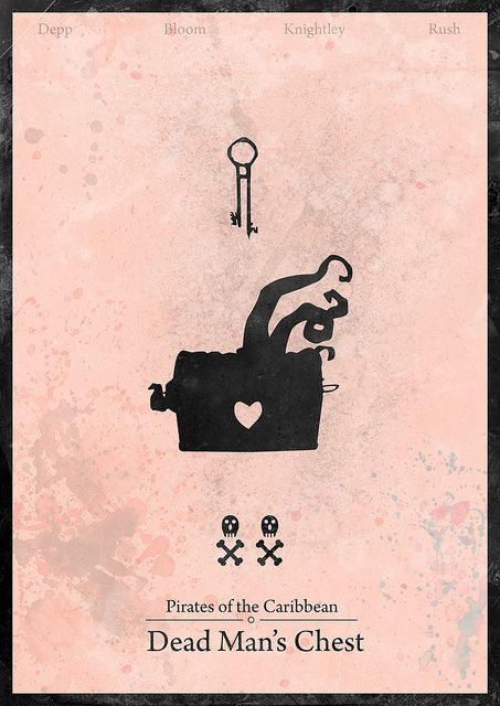 Pirates of the Caribbean : Dead Man's Chest - Minimalist poster by H. Svanegaard, via Flickr