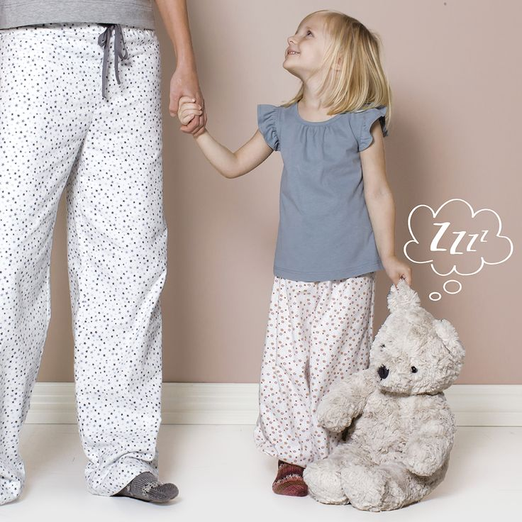 Flonel nature with blue stars - perfect for DIY pajama pants
