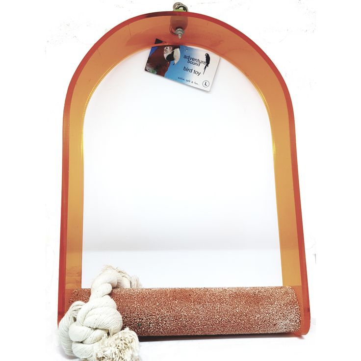Nail Trimming Arch Swing Parrot Perch - Large   Ideal for keeping your #parrots nails trimmed & healthy whilst they play and swing. As your #parrot walks across the rough surface it trims their nails, just as tree bark would in the wild. The tough acrylic arch is easy to clean & will not crack, chip or shatter if dropped in the cage - it is designed to last.