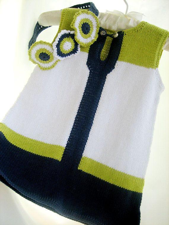 Sale Hand knitted children dress of by Svetlanababyknitting, $50.00