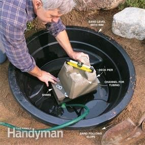 How to Build a Pond & Fountain in One Day via the Family Handyman