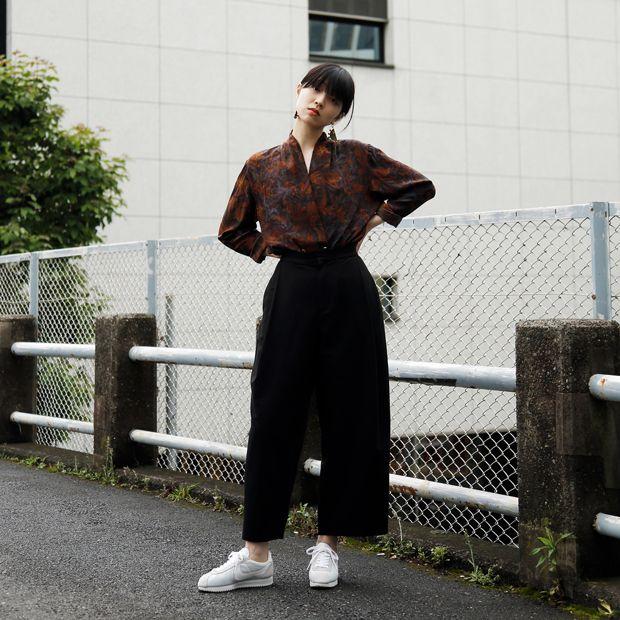 Name: Miyu Otani | 小谷実由 Occupation: Model (jungle) | モデル (ジャングル) Shoes: Nike Cortez | ナイキ コルテッツ