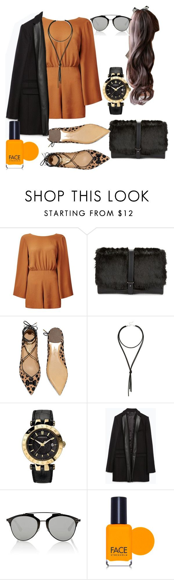 """""""Untitled #58"""" by maria-galvez-dominguez ❤ liked on Polyvore featuring Sam Edelman, Salvatore Ferragamo, Lulu*s, Versace, Zara, Christian Dior, FACE Stockholm, women's clothing, women and female"""
