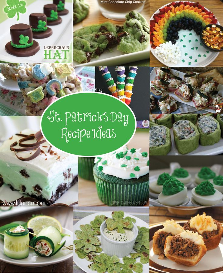 15 St.Patricks Day Food Ideas from Perpetually Daydreaming #irish #green