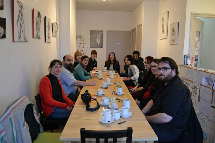 February 2014 - First meet-up in Brest, at Café Kerlune for the Etsy Team Bretagne.