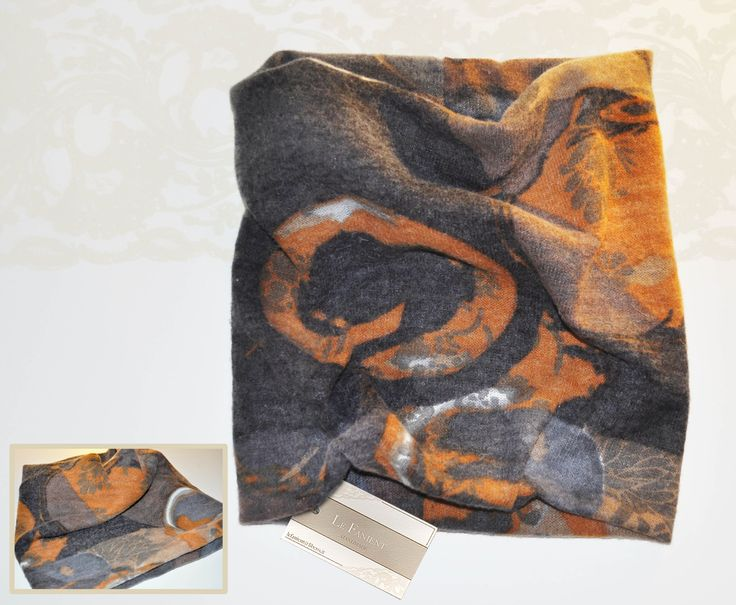 #scarf #infinity #neck #tube #fantasy #fashion #style #pattern #handmade #orange
