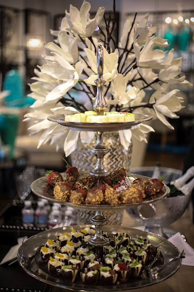 A 3-tiered stand organizes party nibbles and eases serving.Hostess Gift