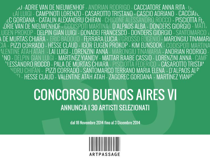 Invito VI Con/corso Buenos Aires #Art #Gallery #contest #international #concorso #contemporary #opening #Milan #artpassage #concorso #artcontest #world #artists
