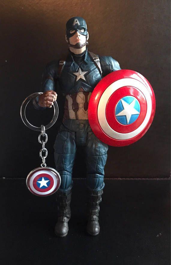 Hail HYDRA Key Chain Avengers Red Skull Avengers Iron Man Captain America