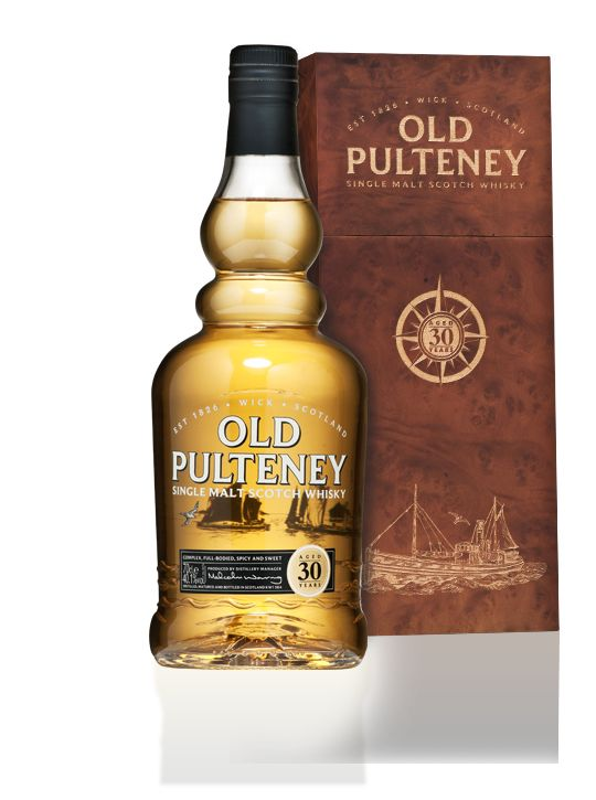Old Pulteney 30 year old single malt whisky available from Whisky please.