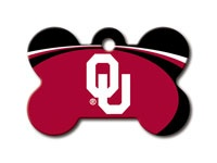 OU - University of Oklahoma Bone shaped Tag - available for $10 plus shipping and handling (or you can pick it up at the shelter). Contact info@wcspca.org for more information.  (BOOMER)