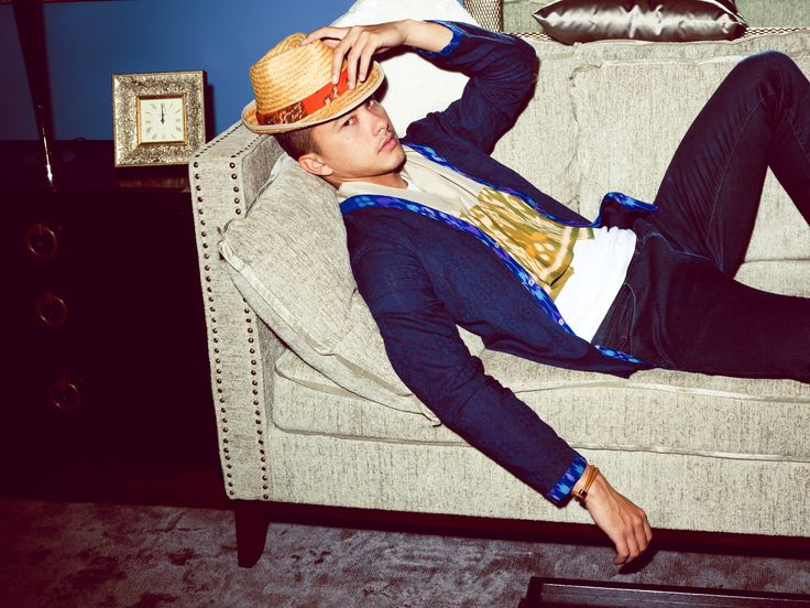 Irresistable ikat: IKAT Indonesia Pour Homme from one of Indonesia's hippest young designers, Didiet Maulana. Yes. [2012]