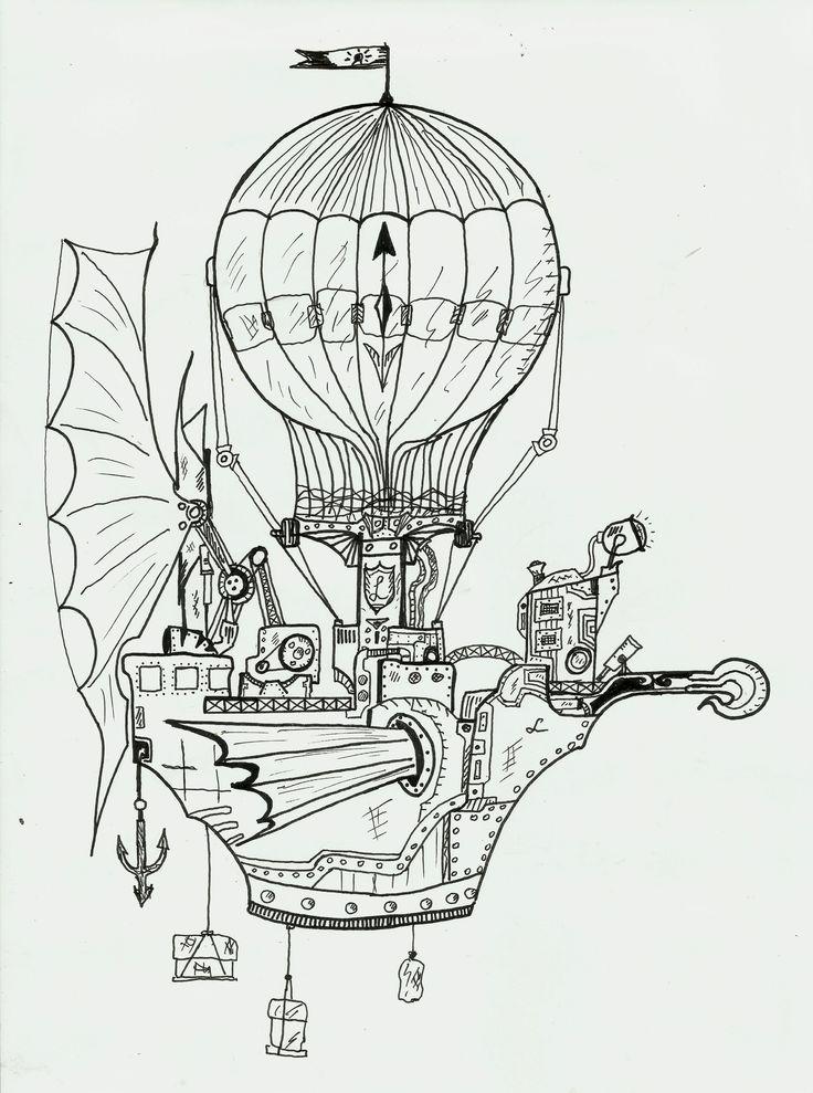 steampunk  air ship