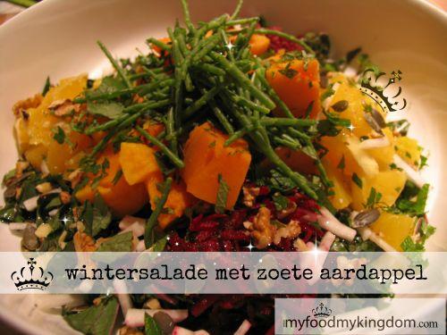 wintersalade met zoete aardappel Tijdens de wintermaanden is het voor ons in een koud klimaat ook niet zo gemakkelijk om koude salades te eten. Maar we willen wel de voordelen van rauwe groenten behouden om onze gezondheid te verbeteren. Daarom maken we, vooral als het kouder is, gebruik van 1 warme groente, in dit geval... View more