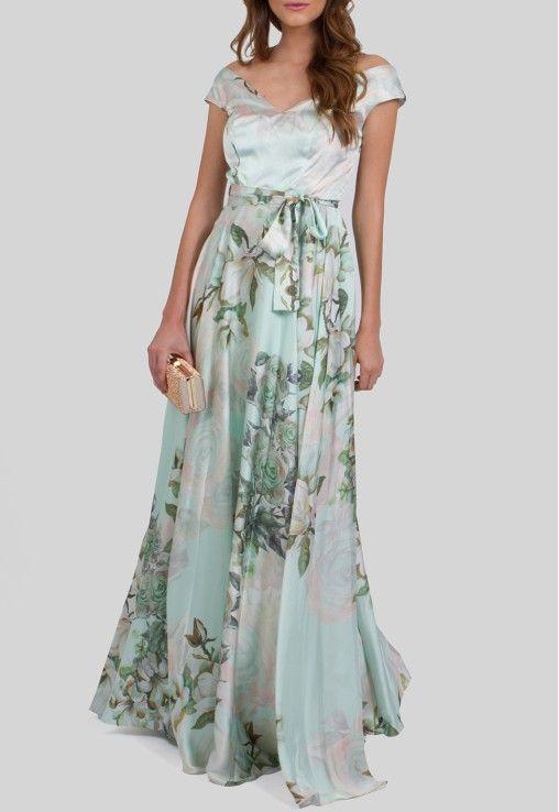 POWERLOOK - Aluguel de Vestidos Online - Vestido Kiki longo de cetim floral decote canoa Powerlook - verde estampado #kiki #powerlook #vestidolongo #longo #cetim #vestidocetim #decotecanoa #verde #estampado #vestidomadrinha #madrinha #vestidocasamento #casamento #vestidofesta #festa  #lookcasamento #lookmadrinha #lookfesta #party #glamour #euvoudepowerlook  #dress #flowers #dia