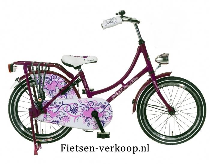Omafiets Paars 20 Inch | bestel gemakkelijk online op Fietsen-verkoop.nl