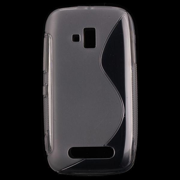 S-Line Läpikuultava (Harmaa) Nokia Lumia 610 Suojakuori