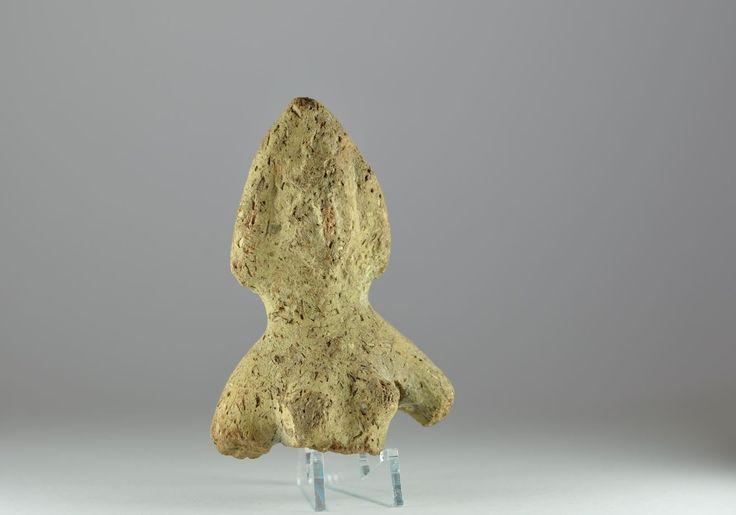 Coptic art, Coptic terracotta bust of a female figure, 6th-7th century A.D. Coptic artr, Coptic terracotta bust of a female figure with pointed headdress, 10.7 cm high. Private collection