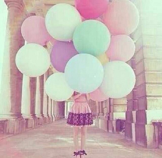 #wallpapers #girl #balloons #pretty #beautiful