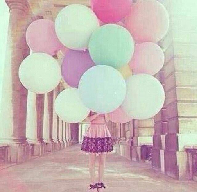 #wallpapers #girl #balloons #pretty #beautiful