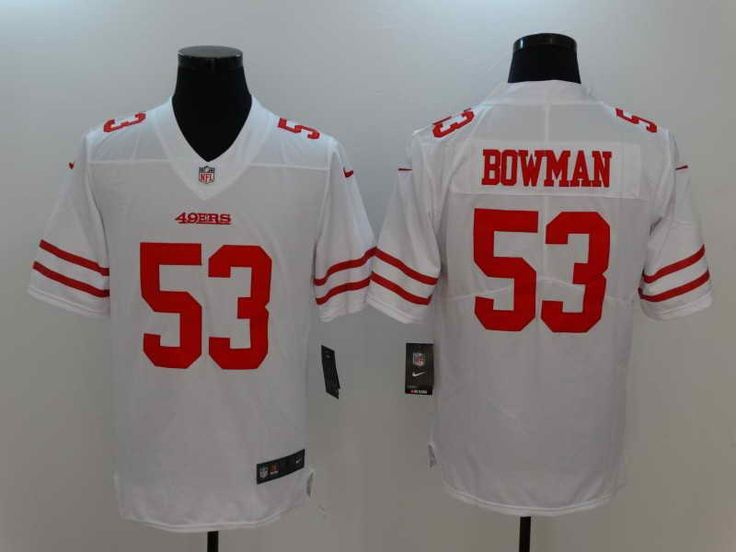 $23 Men's San Fransico 49ers #53 NaVorro Bowman White Nike Limited Stitched Jersey