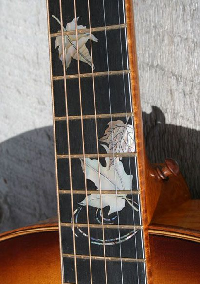 Maple guitar with maple leaf inlay!