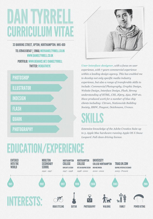 Graphic Design resume examples | Photography, graphic design, web tendencies, inspiration roundups, Photoshop
