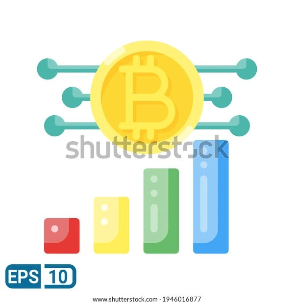 Bitcoin Icon Flat Style Isolated On Stock Vector (Royalty Free) 1946016877