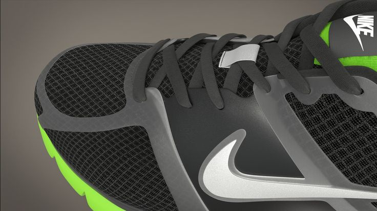 Check out this detail! Nike Trainer with textures rendered up by Rex Roberts using the default render settings in KeyShot. Model from Turbosquid.