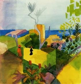 August Macke 'Landscaft am Meer' (Scenery by the Sea') 1914  Watercolor