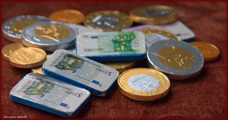 Sinterklaas, schoen zetten, chocolade munten, geld