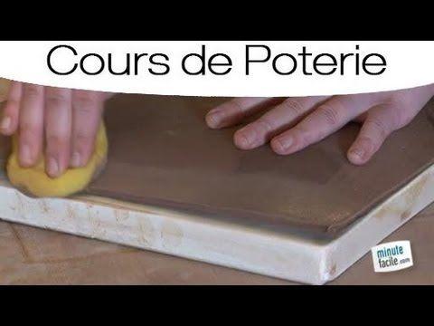 Faire de la Poterie : assiette avec une plaque - YouTube
