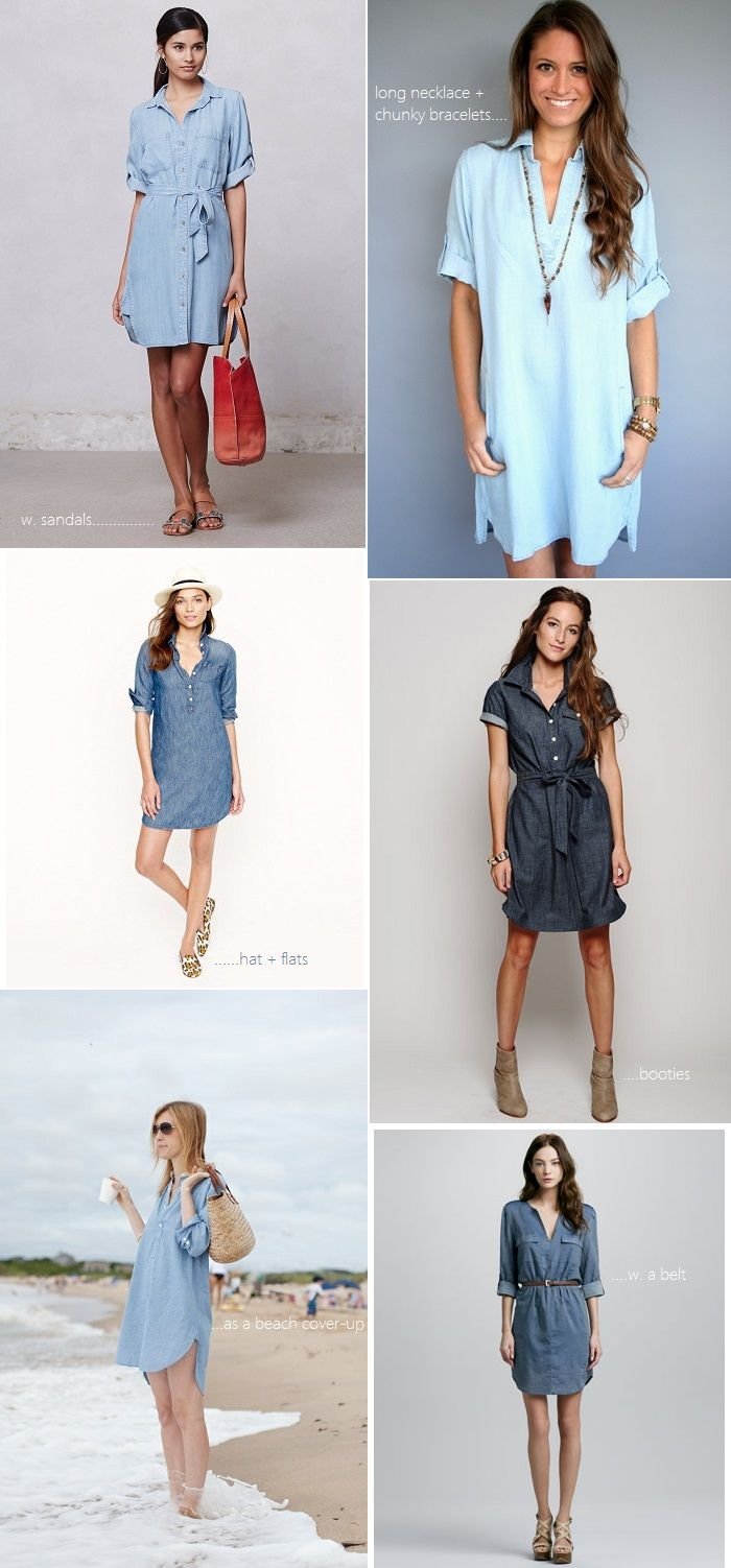 Styling a Chambray Shirt Dress | 6 ways