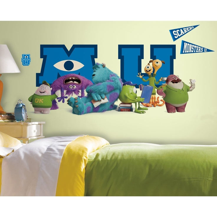 Monsters University Giant Character Collage Peel And Stick Wall Decal