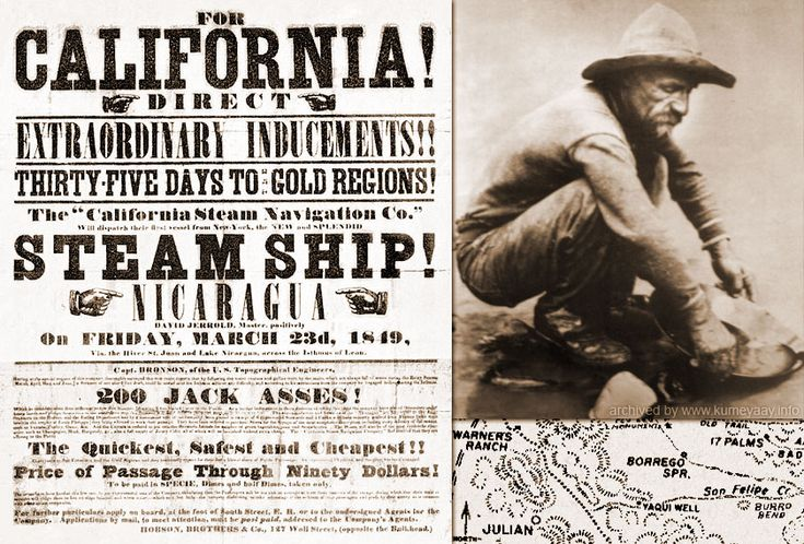 1848 - Gold was first discovered in California, in Sutter ...