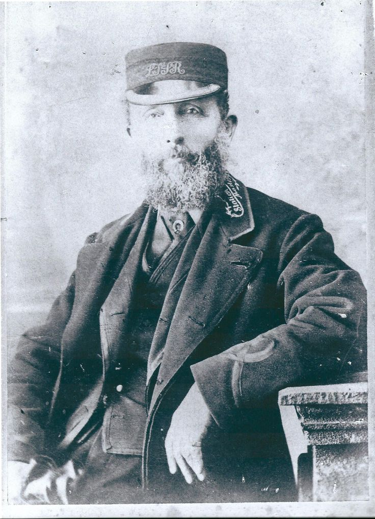 Harry Robert Townshend, Station Master of Benfleet Station in Essex on the London Tilbury and Southen Railway c.1880.