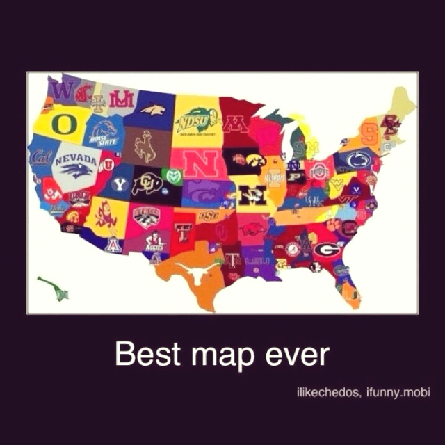 Best Asu Images On Pinterest Arizona Product Display And - Us map of college football teams
