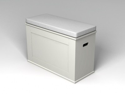Ikea Alve White Storage Bench Couple Storage And Cushions