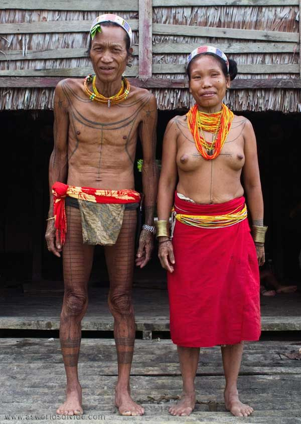 Mentawai Sikerei, Aman Masit Dere, looking stronger standing with his wife during his recovery from illness