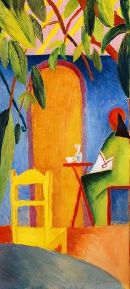 Titolo dell'immagine : August Macke - Caffè Turco II