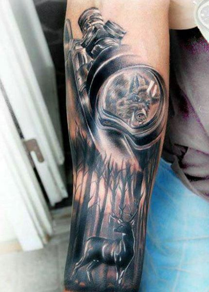 Rife Scope Hunting Mens Tattoos On Forearm http://giovannibenavides.com/PINTERESTTATTOOS
