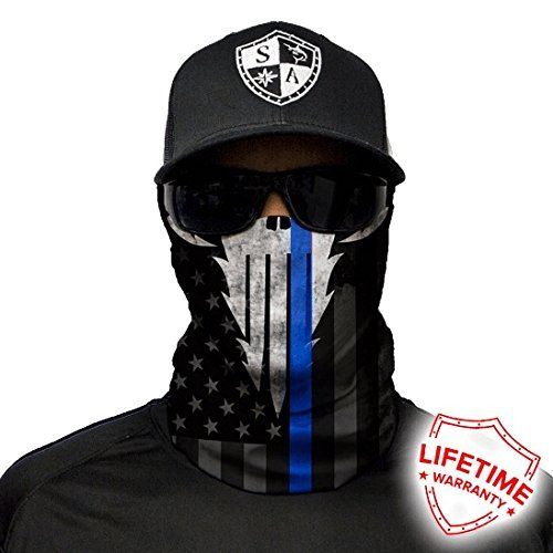 SA Company Face Shield Mask * * * * Assorted Multi Feature Ons Scarf Mask Fishing Skull Skull Bandana Face Mask Neck Warmer Ski Motorcycle Paintball, Police Appreciation