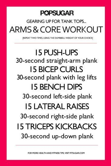 Five-Minute Ab Workout: This five-minute ab workout will help you get a stronger and more defined core.    : Working out on your own? Here are seven workout posters you can print out, throw in your gym bag or suitcase, and follow along with to make working out a breeze.