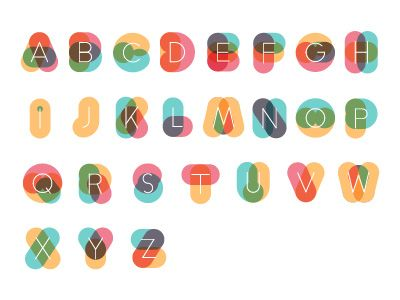 color Alphabet by Cavid Pacheco via dribbble