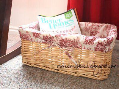 hamper or mini basket liner tutorial