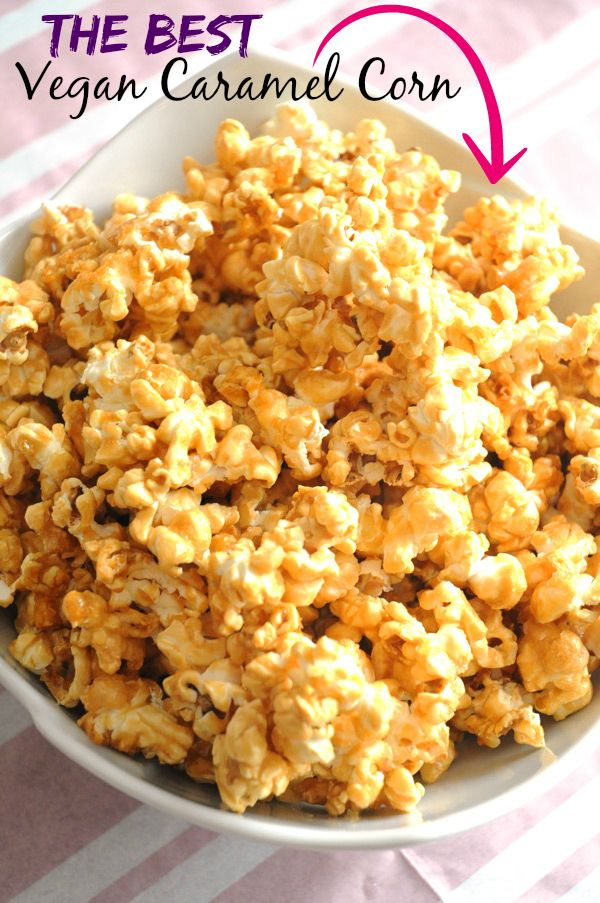 Sweet and Salty Vegan Caramel Corn - I've tried many vegan caramel corn recipes and none of them were as good (or as easy!) as this one. Everyone who tries it agrees - it's SO good!
