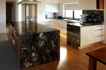 Black granite kitchen bench :)