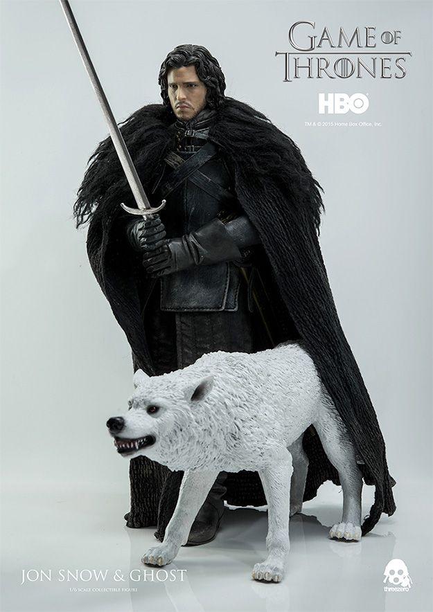 Jon Snow (Kit Harington) com Lobo Ghost em Game of Thrones – Action Figure…