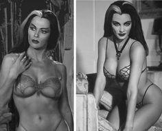 """Yvonne De Carlo in """"Munster"""" lingerie"""